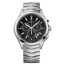 Ebel Wave new Watch with original box and original papers 1216342 Ebel Wave Man 42mm Cronografo nero  acciaio subdials