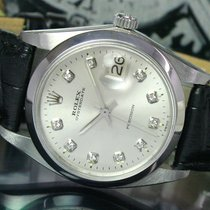 Rolex OysterDate Precision Winding Steel Watch Silver Color Dial
