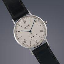 Nomos Pre-owned  Ludwig 38 steel manual watch Original Papers