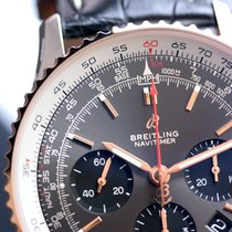 Breitling Navitimer 01 43  Steel & Red Gold Stratos Gray...