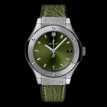 Hublot Classic Fusion Quartz Titanium 33mm Green No numerals United States of America, New York, NYC