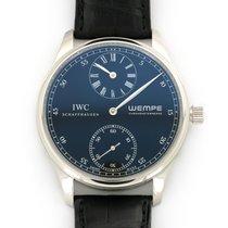 IWC Platinum Manual winding Black 43mm pre-owned Portuguese (submodel)