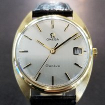 Omega Yellow gold Manual winding Silver 34mm pre-owned Genève