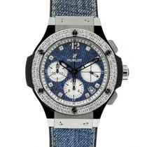 Hublot Big Bang Jeans pre-owned 41mm Chronograph Date Leather