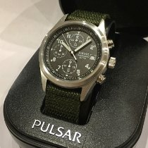 Pulsar pre-owned Quartz 39mm Black Mineral Glass
