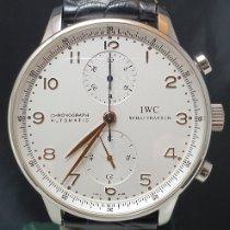 IWC Portuguese Chronograph Acciaio 41mm Bianco Arabo Italia, TORINO