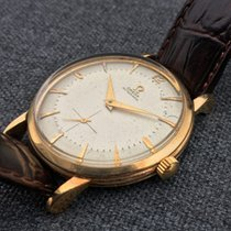 Omega De Ville Trésor pre-owned 34mm Champagne Leather