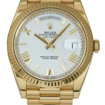 Rolex Day-Date 40 Or jaune 40mm Blanc