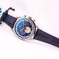 Zenith Chronomaster El Primero 42 Blue Dial on Alligator