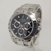 Rolex Daytona 116520 Steel Black Dial 2010 V 40mm Mens Watch B&P