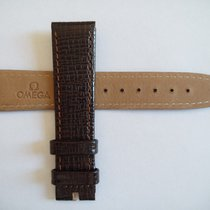 Omega NEW 18 mm Omega strap brown calf leather