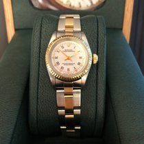 Rolex Oyster Perpetual Gold/Steel Champagne No numerals