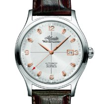 Atlantic new Automatic Display back Central seconds 42mm Steel Sapphire crystal