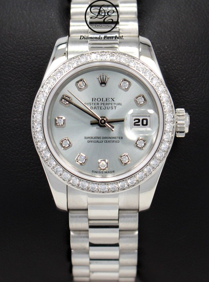 79fea4eb86e Rolex Datejust President Platinum 179136 Factory Diamond Dial... for Rs.  2