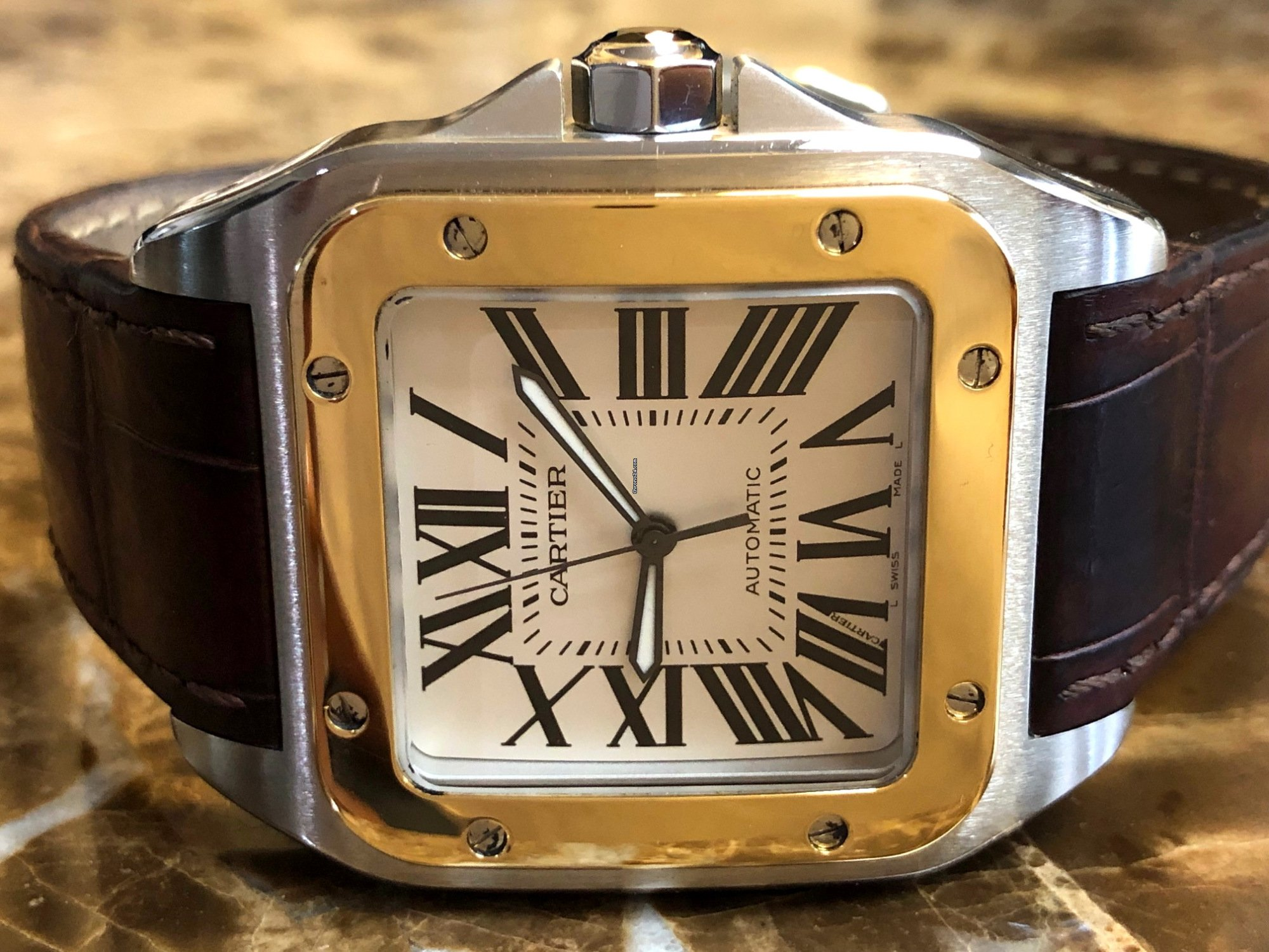 841cd1543428a Cartier Santos 100 XL 18k Yellow Gold and Steel for $5,490 for sale ...