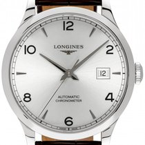 Longines Record Steel 40mm Silver