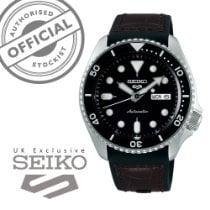 Seiko 5 Sports Steel 43mm Black No numerals