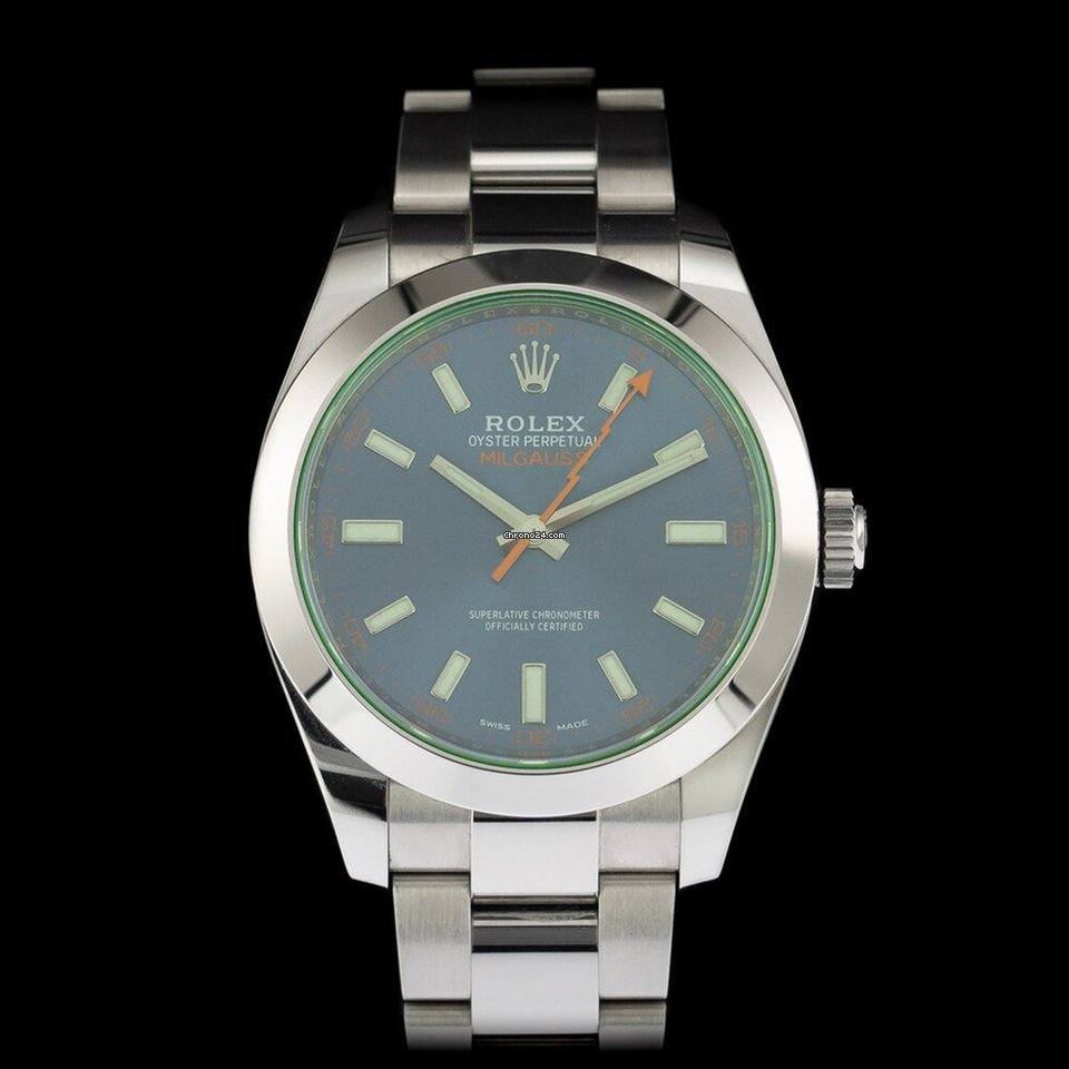 Rolex Milgauss 116400GV Z,Blue full set September 2018 UK watch