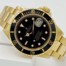 Rolex Submariner Date Oro amarillo 40mm Negro Sin cifras