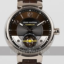 Louis Vuitton White gold 44mm Automatic Q10613 pre-owned