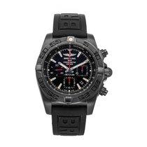 Breitling Chronomat 44 Blacksteel Stahl 44mm Schwarz Keine Ziffern