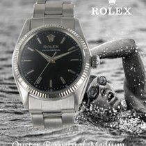 Rolex Oyster Perpetual 31 Gold/Steel 31mm Black No numerals