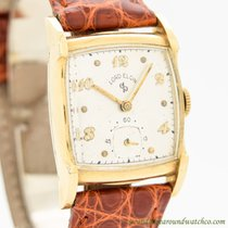 Elgin Yellow gold Manual winding Arabic numerals 25mm pre-owned