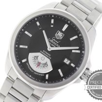 TAG Heuer Grand Carrera pre-owned 40mm Black Date Steel