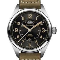 Hamilton Steel Automatic 42mm new Khaki Field Day Date