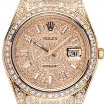 Rolex Datejust II Custom Gelbgold Full Diamond 14ct Automatik...