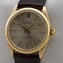 Rolex OYSTER PERPETUAL AUTOMATIK 18K GOLD GELBGOLD PAPIERE MINT