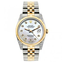Rolex Datejust Ladies' 26mm White Mother Of Pearl Dial Yellow...