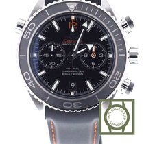 Omega Seamaster Planet Ocean Chrono 600m black 45.5mm leather