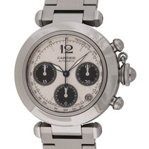 Cartier : Pasha Chronograph :  2412 :  Stainless Steel