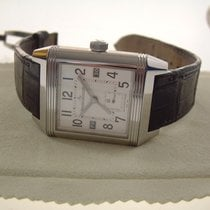 Jaeger-LeCoultre Steel Automatic Silver Arabic numerals 35mm pre-owned Reverso Squadra Hometime