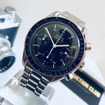 Omega Speedmaster Automatic Reduced Chronograph black face watch
