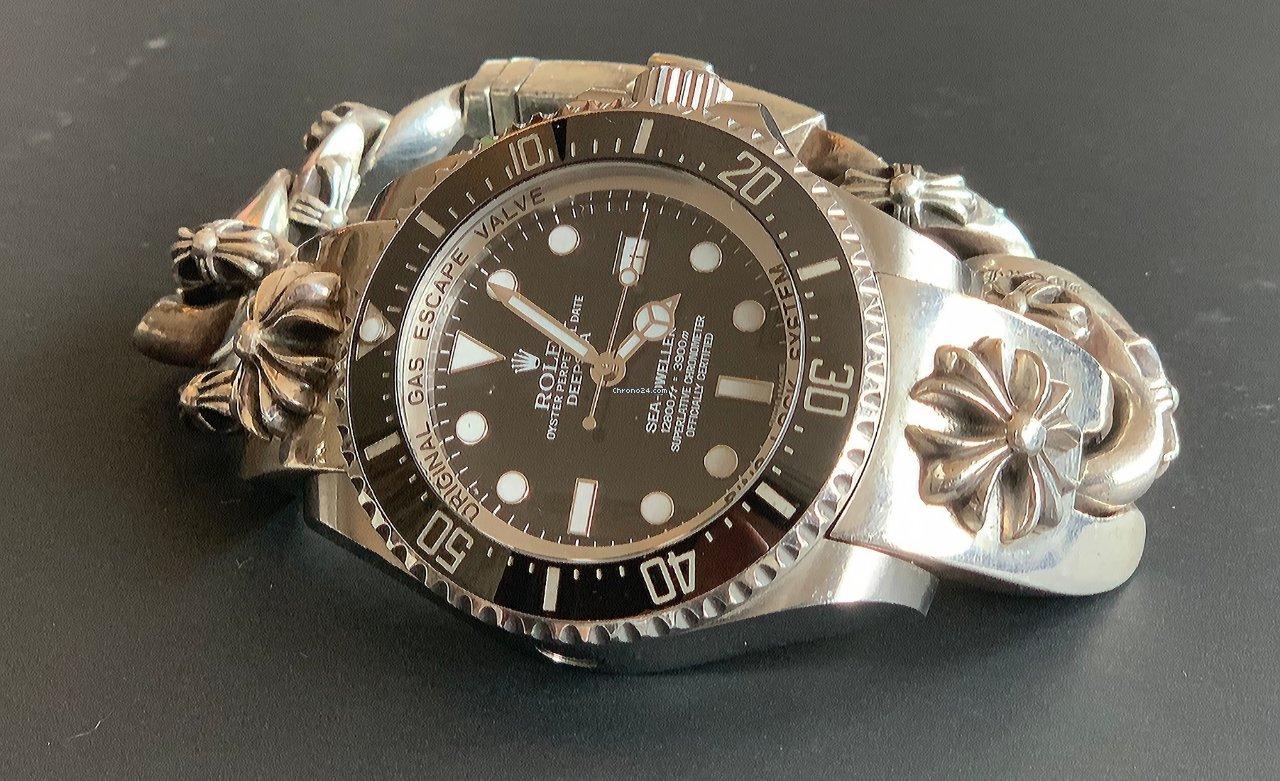 Rolex Sea Dweller Deepsea Custom Chrome Hearts Bracelet