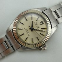 Tudor Oyster Prince Gold/Steel 23mm Silver No numerals