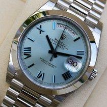 Rolex Day-Date 40 Platin 40mm Blau Römisch Deutschland, Ransbach Baumbach