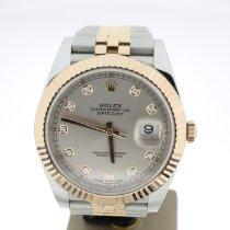 Rolex Datejust II Or/Acier 41mm Champagne Sans chiffres