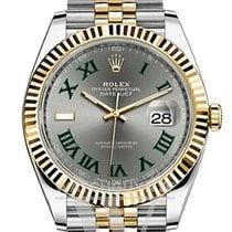 Rolex Datejust Gold/Steel 41mm Silver No numerals