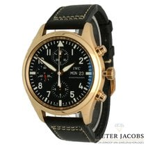 IWC Yellow gold Automatic Black Arabic numerals 42mm pre-owned Pilot Chronograph