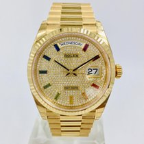 Rolex Yellow gold 36mm Silver