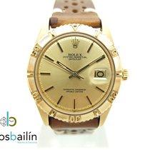Rolex Datejust Turn-O-Graph Gold/Stahl 36mm Champagnerfarben Keine Ziffern