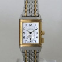 Jaeger-LeCoultre Reverso Memory Gold/Steel 23mm Silver Arabic numerals