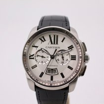 Cartier Calibre de Cartier Chronograph Steel 42mm Silver Roman numerals United Kingdom, London