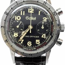 Gallet Chronograph 38mm Manual winding new Black