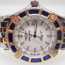 Breitling Lady J 18k Yellow Gold Stainless Ladies Watch D52065...
