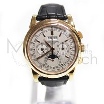 Patek Philippe Perpetual Calendar Chronograph Růžové zlato 40mm Stříbrná