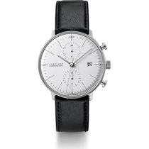 Junghans max bill Chronoscope Steel 40mm Silver No numerals